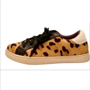 Steven by Steve Madden leopard calf hair sneakers